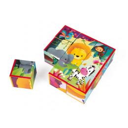 9 cubes jungle - à partir de 2 ans