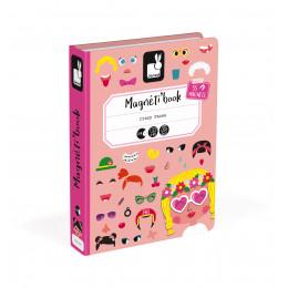 Magnéti'book Crazy Faces - boîte rose - à partir de 3 ans