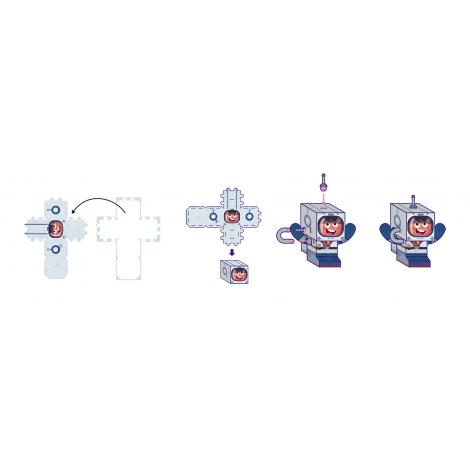 6 figurines Paper toys à partir de 6 ans