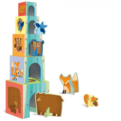 Les cubes des animaux - les bébés animaux de la forêt + livret - à partir de 2 ans