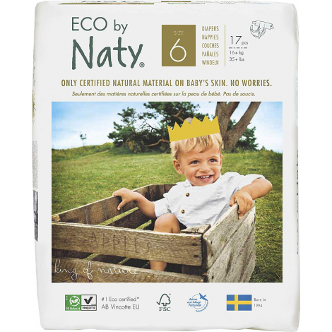 Couches écologiques T6 XL 16kg+