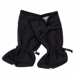 Chaussons ajustables en laine et en polaire - Black