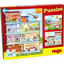 Puzzles 24 pièces - mon petit hôpital - 3 puzzles - à partir de 4 ans