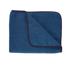 Couverture en laine - bleu jean