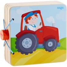 Livre en bois pour bébé Tracteur