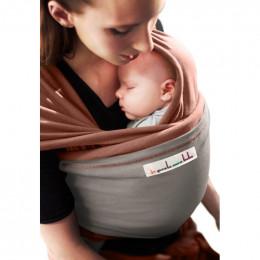 Echarpe porte-bébé: Rouge sequoia / Gris clair