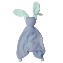Doudou Floppy éponge - Deep blue/fresh mint