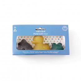 Lot de 3 jouets de bain en caoutchouc naturel coloré Dès la naissance