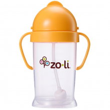 Gobelet avec paille  Sans BPA ni phthalate Orange - 270 ml