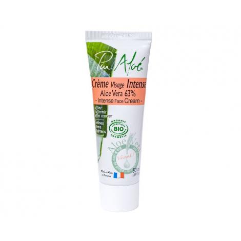 Crème de nuit intense à l'aloe vera BIO 63 % 50 ml