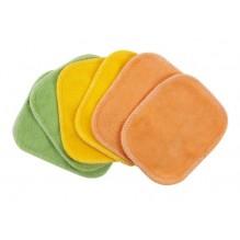 Lingettes démaquillantes en coton BIO - couleurs - lot de 6