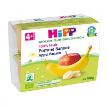 Pomme banane Bio dès 4 mois 4 x 100 g