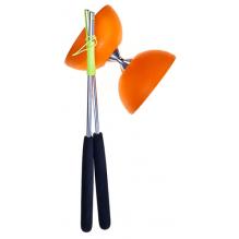 Diabolo avec baguettes en aluminium - Orange - à partir de 8 ans