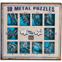 Set de 10 casse-têtes métal - à partir de 7 ans - version bleue