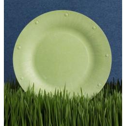 Grande assiette végétale compostable - 25,4 cm - Lot de 8 - Verte