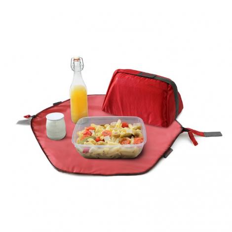 Pochette 2 en 1 - lunch bag et set de table - Rouge