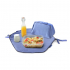 Pochette 2 en 1 - lunch bag et set de table - Eco Bleu