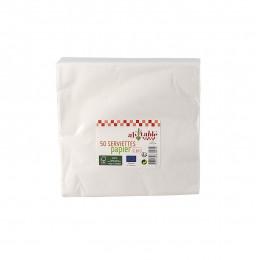Serviettes en papier écologiques - 100 pièces