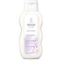 Lait corporel pour bébé - peaux sensibles - mauve blanche - 200 ml