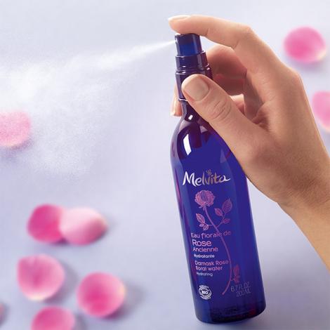 Eau florale de rose ancienne Bio 200 ml - Brumisateur -  Offre Duo