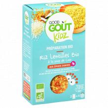 Riz, lentilles Bio - Noix de coco - 2 x 120 g
