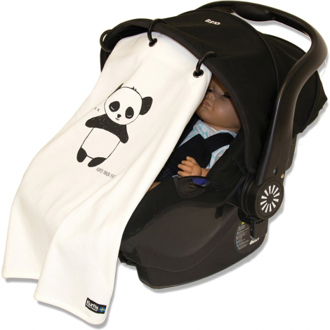 Protection anti UV pour poussette et siège bébé - Panda