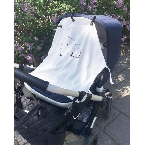 Protection anti UV pour poussette et siège bébé - Doudous