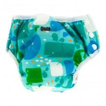 2 en 1 culotte d'apprentissage et maillot de bain - lot de 2 - Bleu baleines