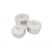 Trio de boîtes rondes en inox - Bankura