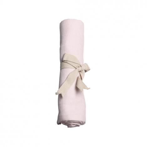 Lange en mousseline bio - Rose pâle