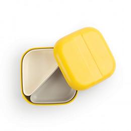 Petite lunch box à compartiments Bento en fibre de Bambou - Jaune