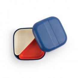 Petite lunch box à compartiments Bento en fibre de Bambou - Bleu