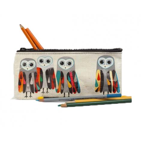 Trousse à crayons en matériaux recyclés - Hoo's next