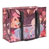 Cabas zippé en matériaux recyclés - Flamingo