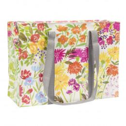 Cabas zippé en matériaux recyclés - Flower garden