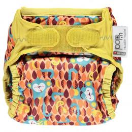 Culotte de protection pour couches lavables - Taille unique velcros - Singes