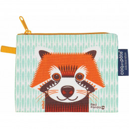 Mini trousse - porte monnaie en coton BIO - Panda roux