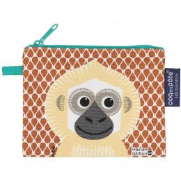Mini trousse - porte monnaie en coton BIO - Gibbon