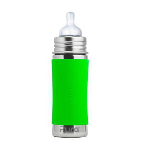 Biberon évolutif En Inox 325 Ml Tétine En Silicone Vert