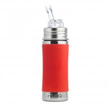 Biberon évolutif en inox - 325 ml - Paille en silicone - à partir de 6 mois - Orange