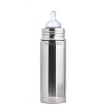 Biberon isotherme évolutif en inox - 260 ml - Tétine en silicone - à partir de 3 mois - Silver