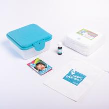 Mini kit lingettes - Bambou - blanc - Rose / géranium