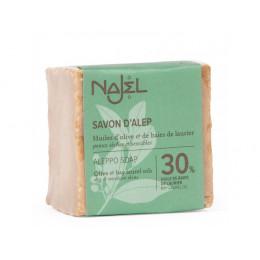 Savon d'Alep - 30 % huile de baies de laurier - peaux sèches et sensibles - 200 g