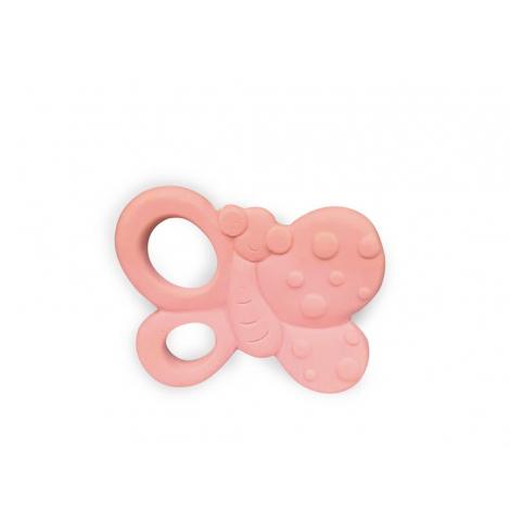 Hochet anneau de dentition en caoutchouc naturel - Papillon - dès la naissance
