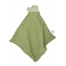Doudou avec tête de crocodile en caoutchouc naturel - Vert - Dès la naissance