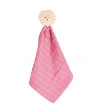 Doudou avec tête de lion en caoutchouc naturel - Vieux rose - Dès la naissance