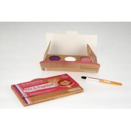 Kit de maquillage Bio 3 couleurs Fée et papillon - à partir de 3 ans