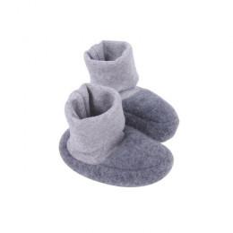 Chaussons en polaire de laine - Anthracite