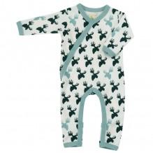 Pyjama combi coton BIO avec pieds Elan Black and white
