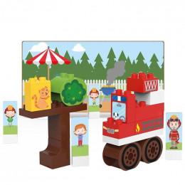 Camion de pompier - 29 blocs - à partir de 18 mois